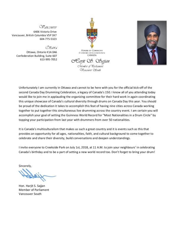 Message from the Honourable Harjit S. Sajjan, Minister of National Defence, MP for Vancouver South